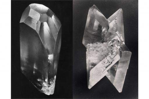 Cristal réel Alfred Ehrhardt, Gips, Kristallzwilling, Sammlung der Universität Bonn, 1938/39 © Alfred Ehrhardt Stiftung / Alfred Ehrhardt, Beryll, Kristall, Minas Gerais, Brasilien, 1938/39 © bpk / Alfred Ehrhardt Stiftung Perspektive