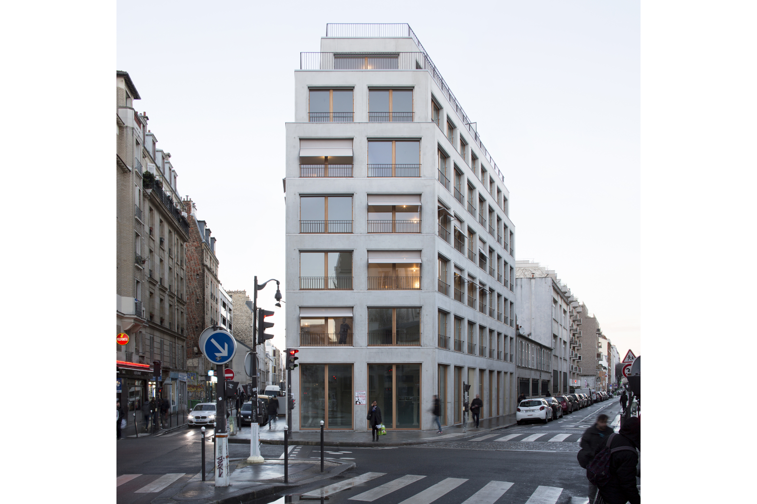 L'architecture du réel en France Armand Nouvet,16 logements à Paris ©  Clément Guillaume Perspektive