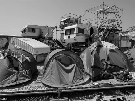 HALLO Festspiele: Les Grands Voisins Yes We Camp, Camping Marseille 2013, © Philippe Rittling/Chien des Quais  Perspektive