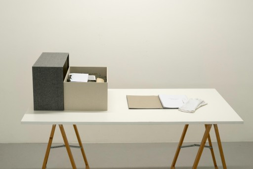 Remembering the future Roland Görgen, Ausstellungsansicht Galerie Ursula Walter, Foto: A. Kempe Perspektive