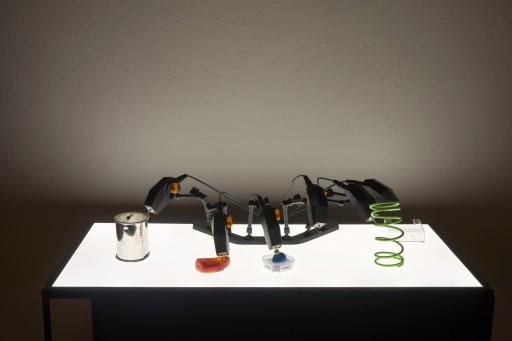 Remembering the future Moritz Simon Geist, Ausstellungsansicht Altana Galerie, Foto: A. Kempe Perspektive