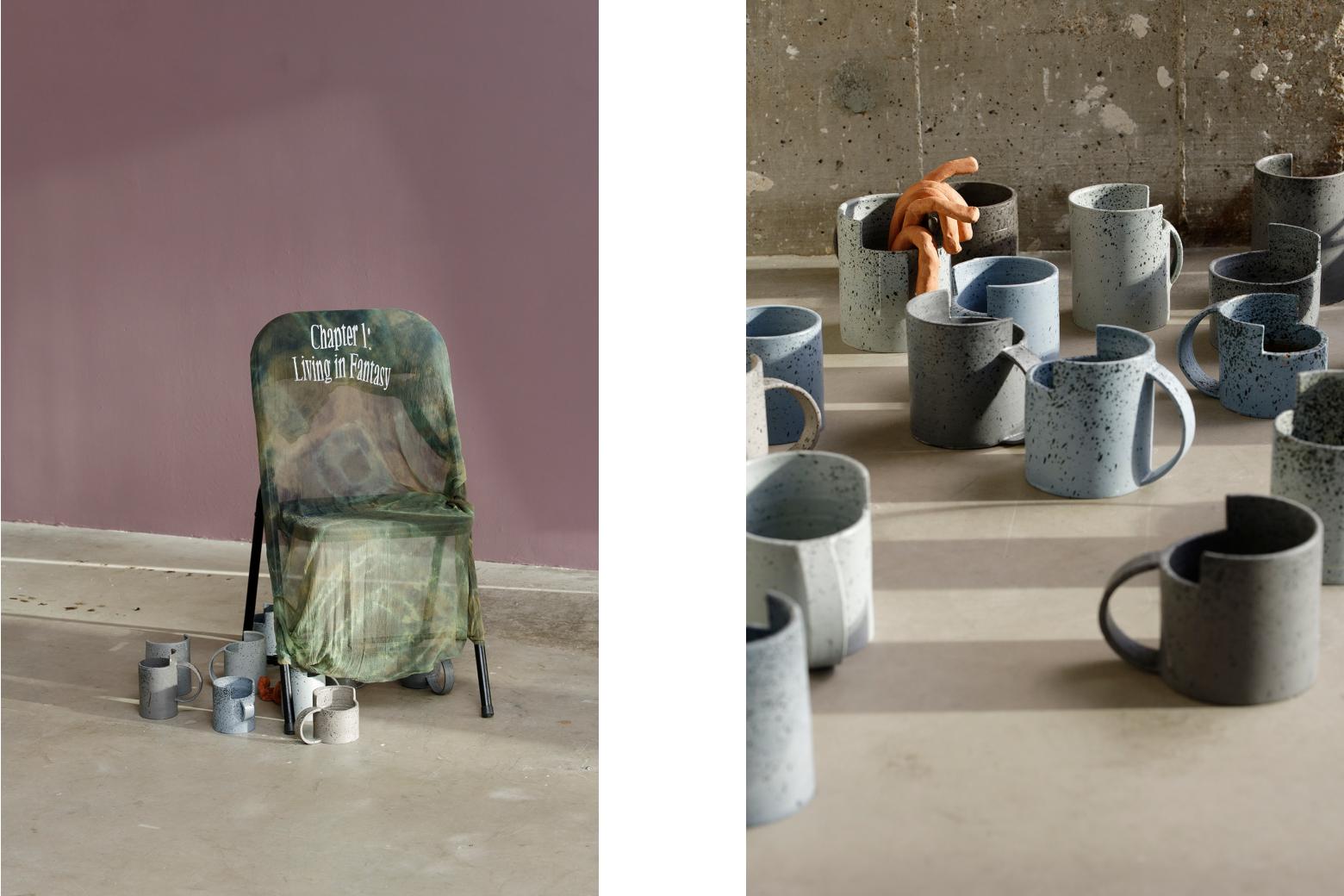 The Surplus Ève Chabanon: Le surplus, Ausstellungsansicht Bétonsalon - Centre d'art et de recherche 2020, Foto: Aurélien Mole Perspektive
