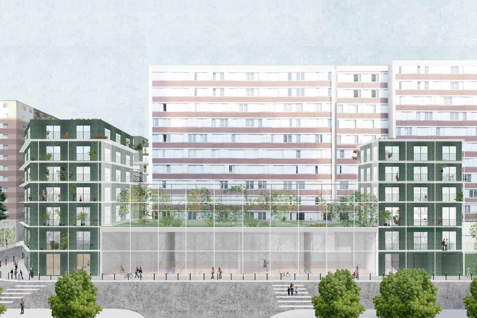 Die Architektur des Realen in Frankreich NP2F architectes, Réinventer Paris © NP2F Perspektive