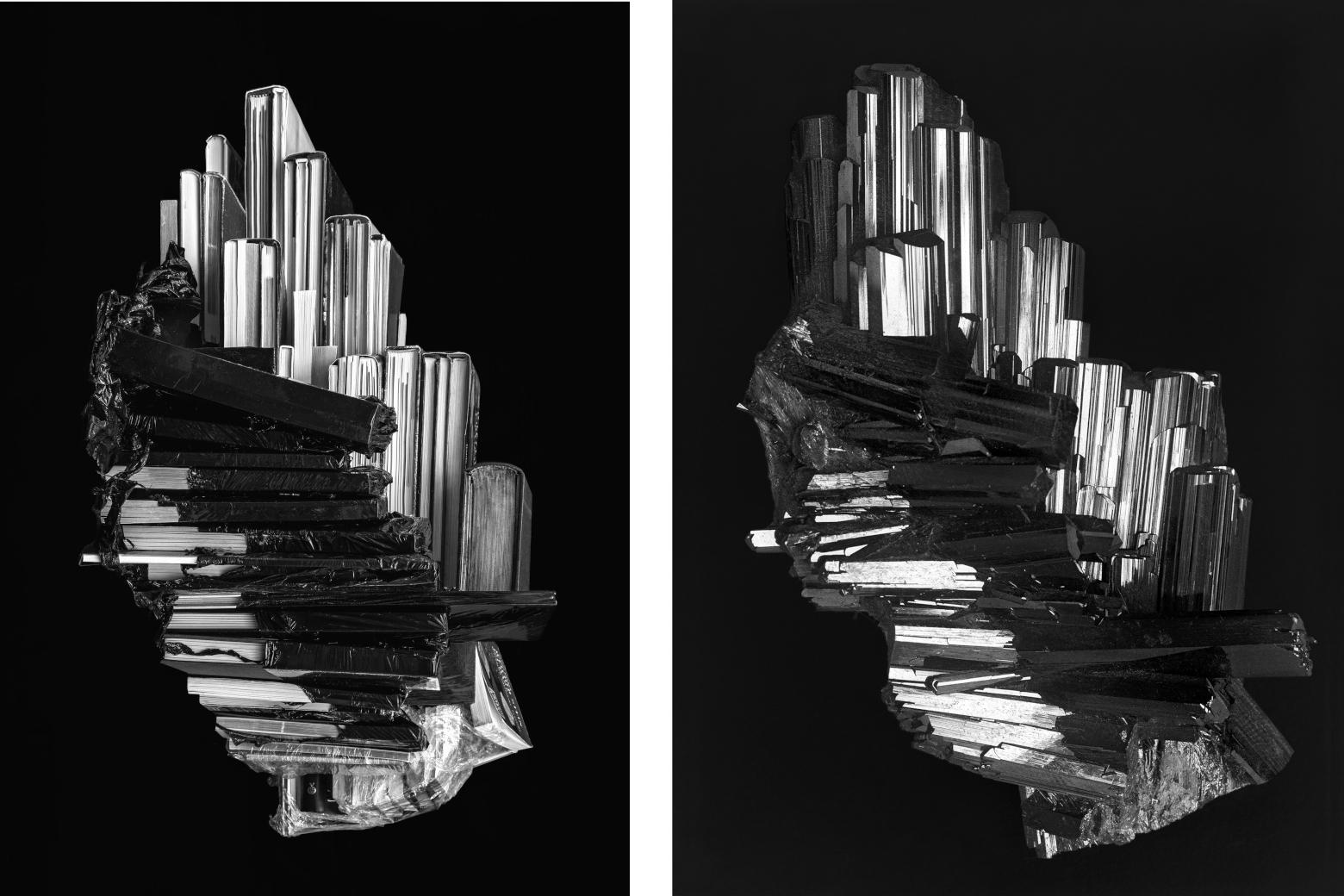 Cristal réel Isabelle Le Minh, Épitrope, after Alfred Ehrhardt, 2019 © Isabelle Le Minh, ADAGP, Paris 2020 / Alfred Ehrhardt, Epidot, Knappenwand, Untersulzbachtal, 1938/1939 © Alfred Ehrhardt Stiftung Perspektive