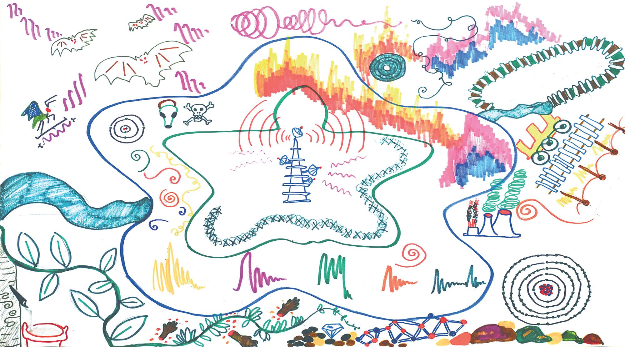 Polyphon Institute for Incongruous Translation (Natascha Sadr Haghighian & Ashkan Sepahvand), Carbon Theater Act III Dark Loops, 2020 © Natascha Sadr Haghighian and Ashkan Sepahvand Perspektive